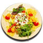 Joghurtos Friss saláta pirított csirkekockával